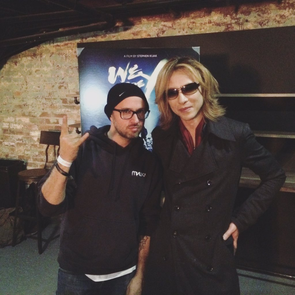 Got to hang w Yoshiki from X JAPAN last night! @sundanceinstitute @iheartcomix https://t.co/yIFjrIsfDL