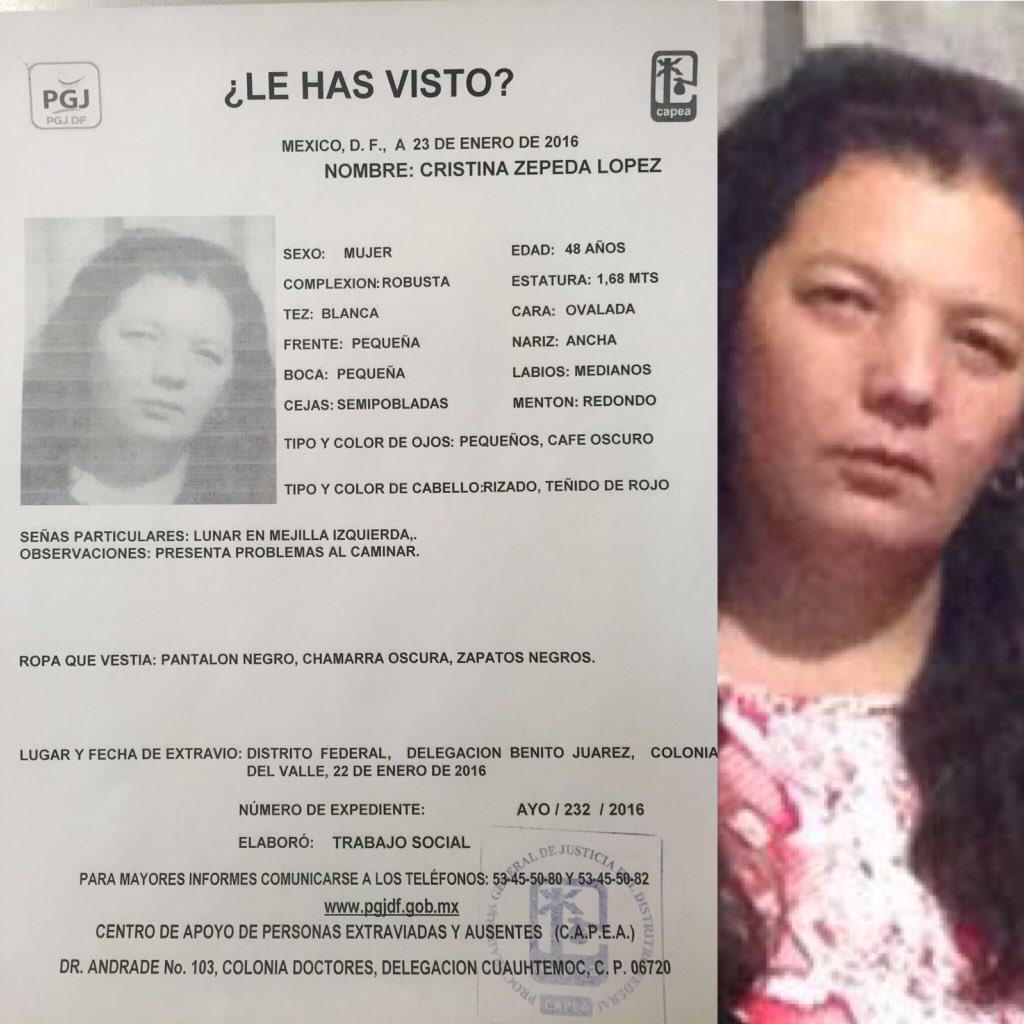 Seguimos sin saber de ella. ¡Por favor, les suplico ayuda para difundir! @En_laDelValle #encontremosaCristina https://t.co/KNdcjIImmE
