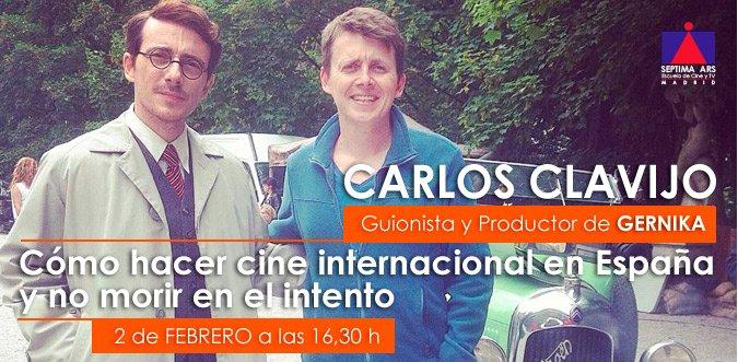 MASTERCLASS GRATIS sobre escritura y producción de @GernikaTheMovie por @carlosclavijo22 #audiovisual #cine #guión https://t.co/HdQaqGLzou