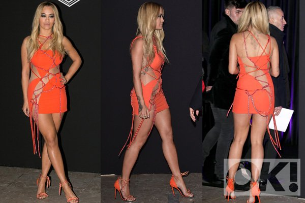 hot right now! @ritaora risks a serious wardrobe malfunction in this