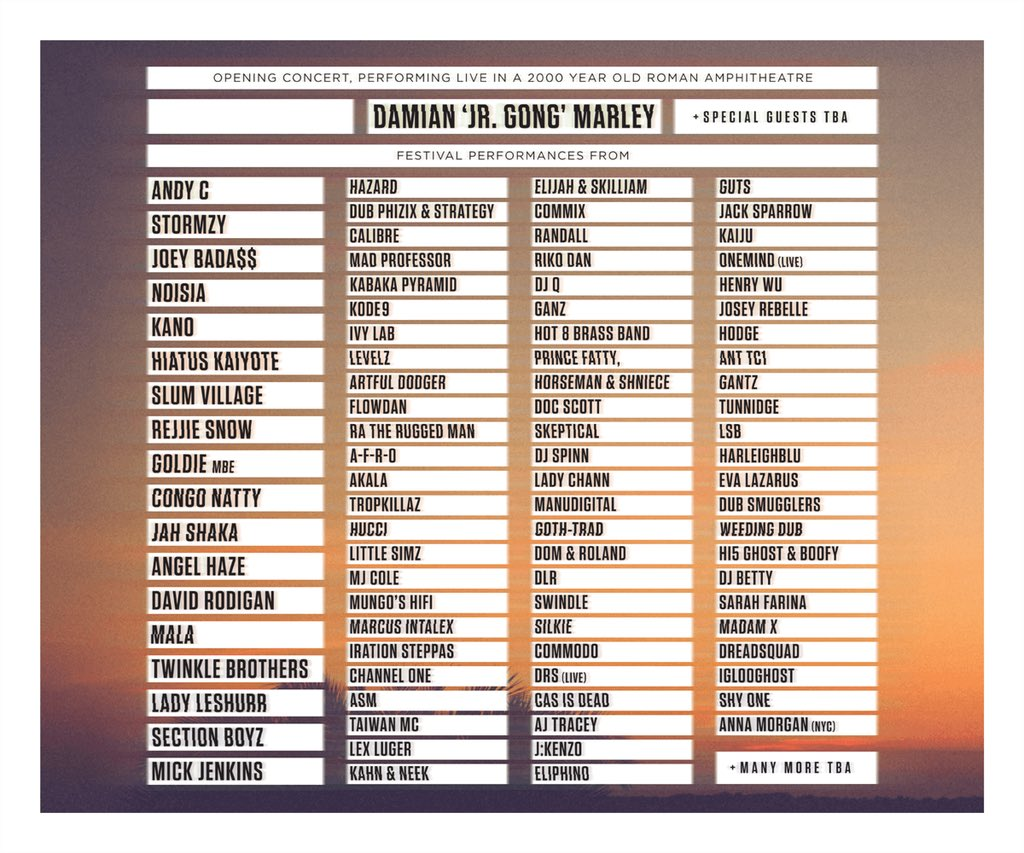 """Yes!!! Been gassing secretly for TIME! But can finally announce that I'm bringing """"DRS LIVE"""" to @OutlookFestival ❤️ https://t.co/lUfvMfSQ23"""