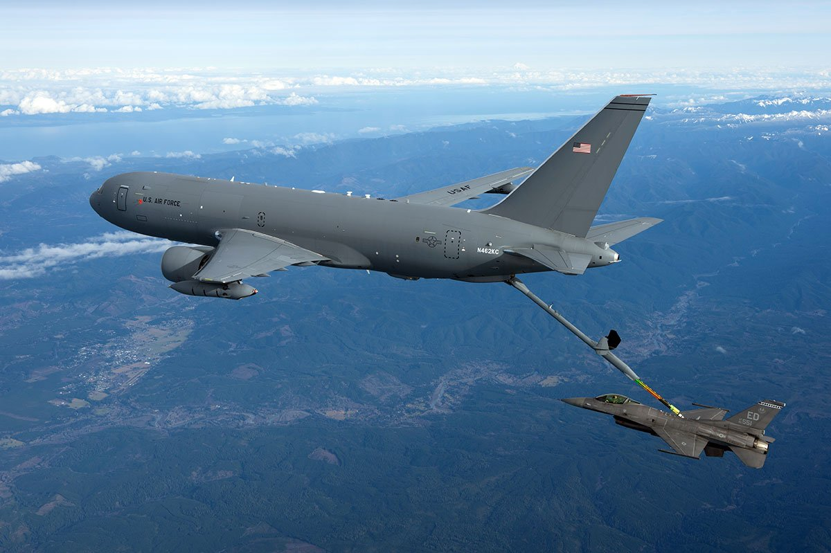RELEASE: #Boeing-@USAirForce KC-46A completes successful 1st refueling with F-16 fighter - https://t.co/Si2umXweO8 https://t.co/ZIwVhMeQwp