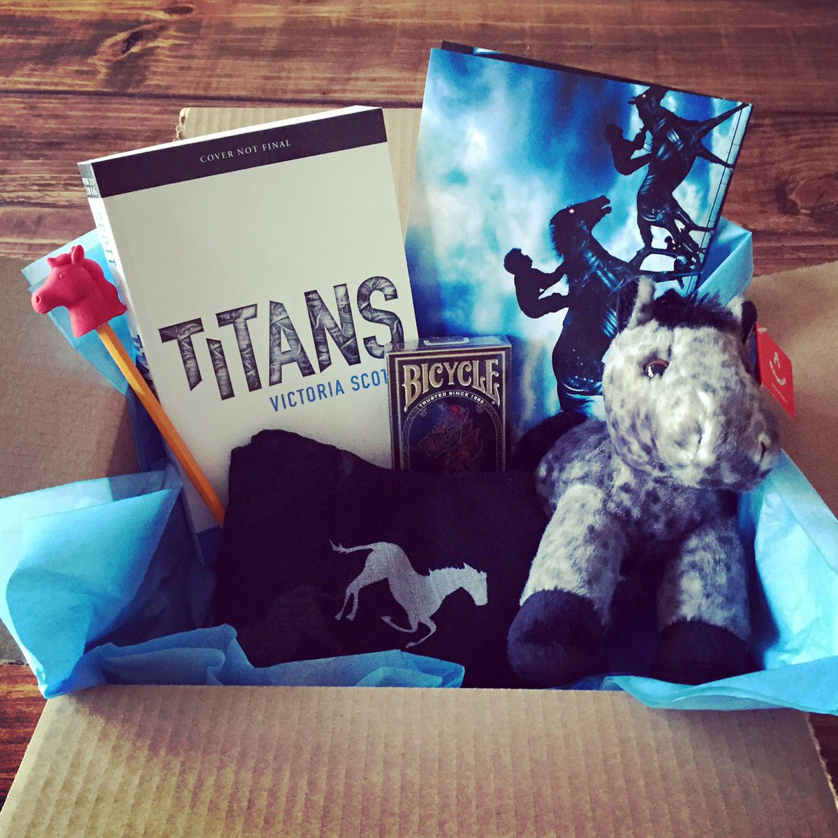 Last day to win the first of five TITANS prize boxes. RT to enter!  TITANS will be in bookstores 02.23.2016. https://t.co/sG9Brjjkh1