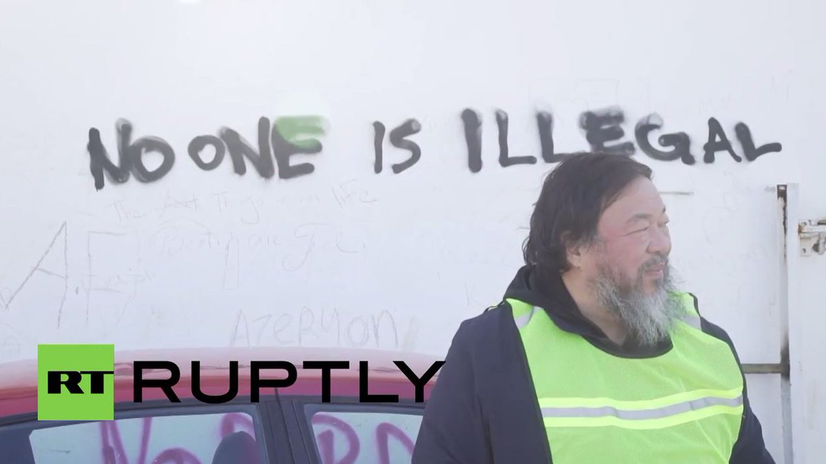RT @Ruptly: Ai Weiwei sets up a studio on Lesbos as refugee crisis unfurls https://t.co/3ek1eeptrM https://t.co/gPxj0Gftzg