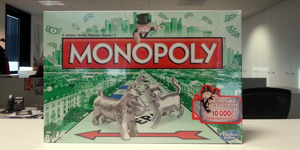 CONCOURS | Follow + RT pour gagner un #Monopoly contenant peut-être 10K€ en carte de crédit https://t.co/OqZeIGll7n https://t.co/2zZ4PgvzZG