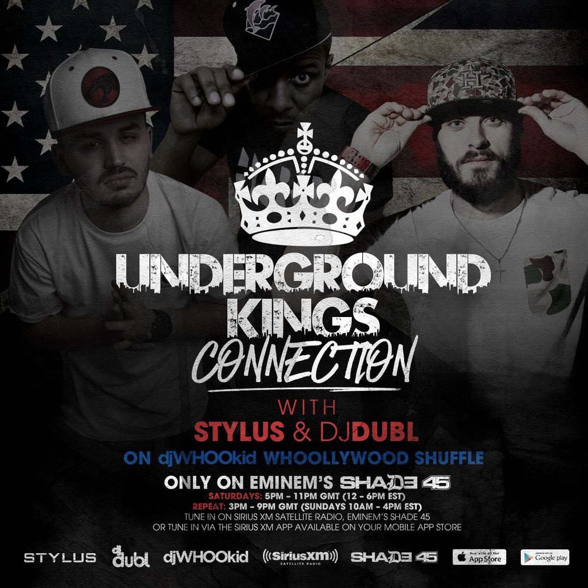 IT'S OFFICIAL! #UndergroundKings - now reaching across the pond in a new WEEKLY feature on @Shade45 w/ @DJWhooKid!!! https://t.co/2RazVJVp7f