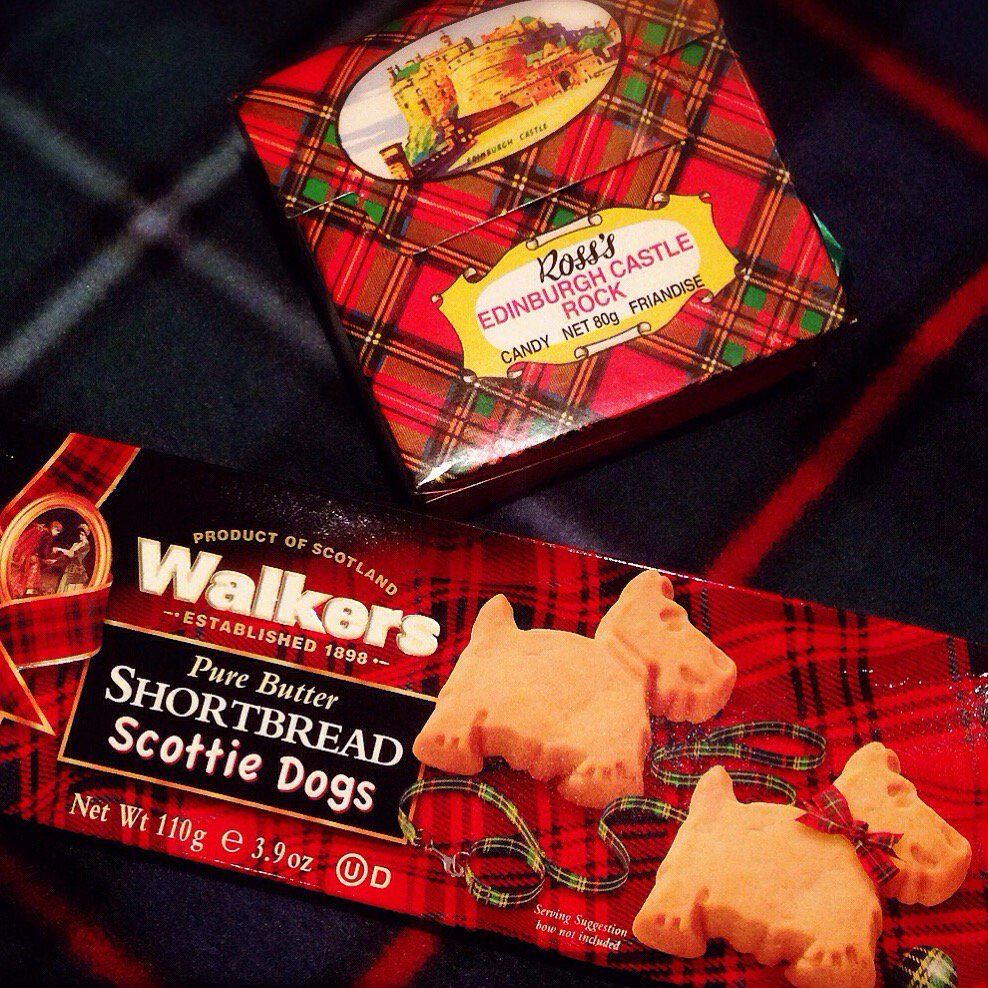Tonight's dessert - sweet treats from #Edinburgh in honour of #BurnsNight!