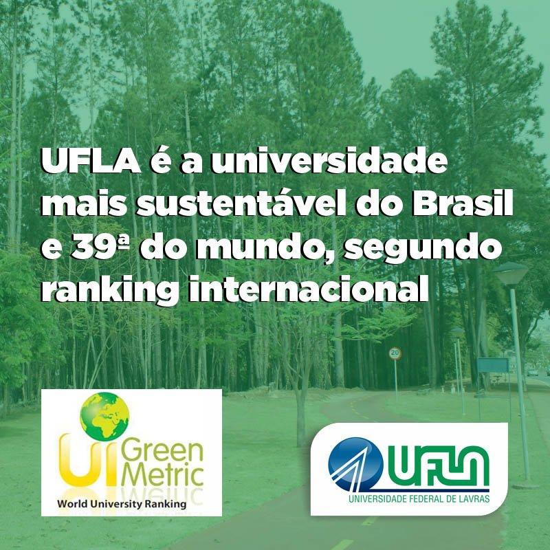 #UFLA é a universidade mais sustentável do Brasil e 39ª em ranking mundial https://t.co/PidL6I1uNr #ORGULHOdeSerUFLA https://t.co/f9sD7L8AX1