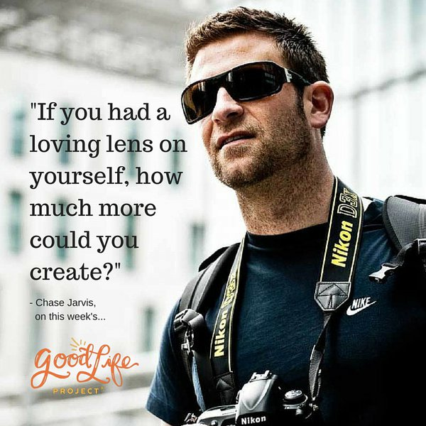 """""""If you had a loving lens on yourself, how much more could you create?"""" - @chasejarvis https://t.co/hesEMkIGIf https://t.co/sKMNB1TkJR"""