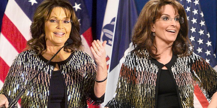 The story behind Tina Fey's replica of Sarah Palin's sold-out sweater for SNL