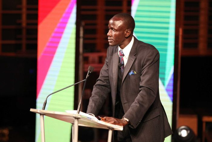 From child soldier to lawyer. Deng Thiak Adut delivers the 2016 #AustraliaDay Address https://t.co/YMRNW0GVrN https://t.co/Nkh0MrqVab
