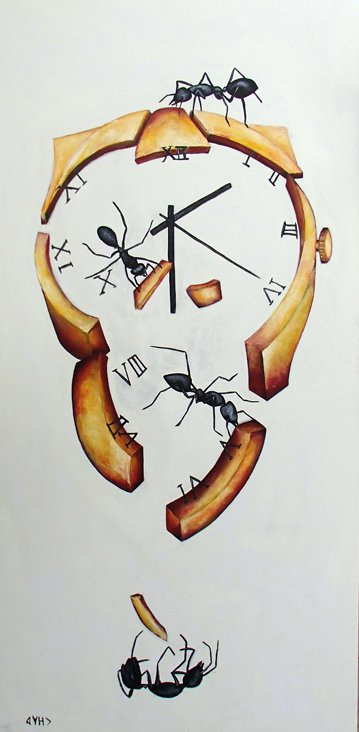 """Ant Out of Time "" My eyes seem to go on a cycle that finishes with the falling ant, then start again https://t.co/ez6MC0zyjs"