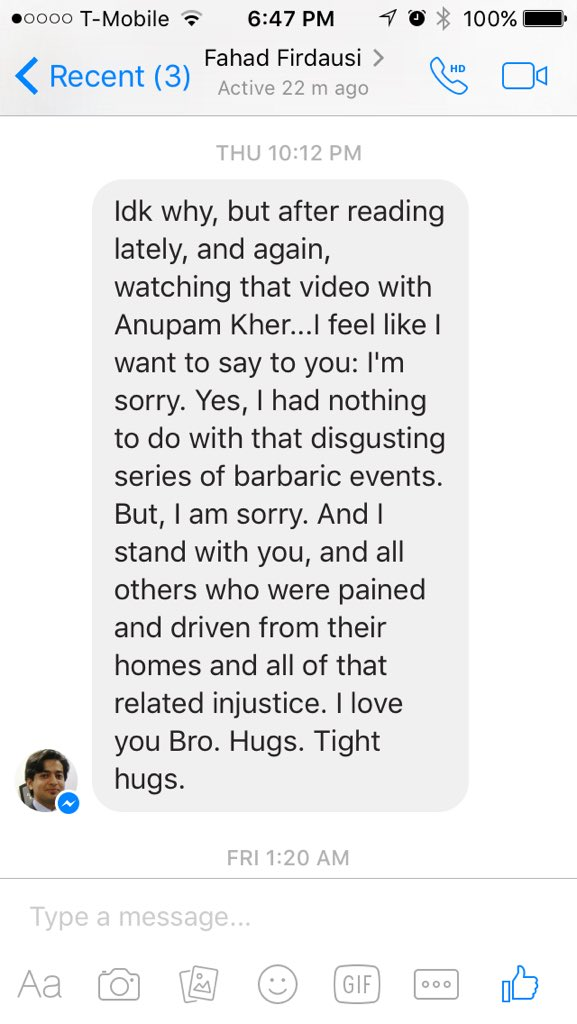 @AnupamPkher I shared your video for @TimesNow on my FB and a friend said this: https://t.co/NQ8I6TaVPZ