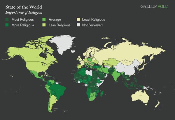 The importance of religion around the world in five charts