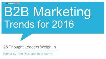 Three Things Smart B2B Marketers Will be Doing in 2016 | B2B Marketing Blog  https://t.co/qhzrqhHhdC https://t.co/QoXMGjjKlE