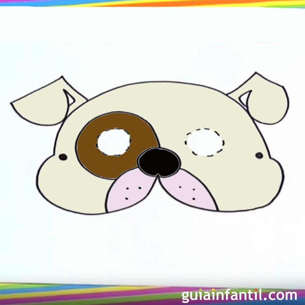 Cómo dibujar un antifaz de perro