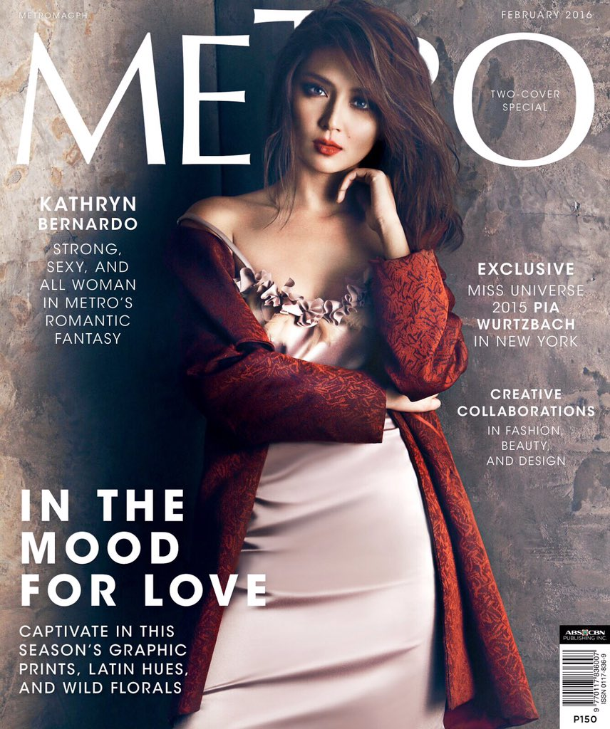 It takes two! ❤️ Here's @bernardokath #KathrynBernardo's 2nd cover for @metromagph Feb'16 issue #MetroLovesKathryn https://t.co/A7qsERsDnt