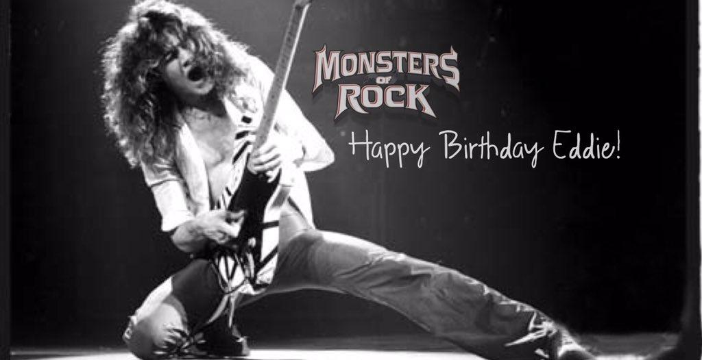 The Monsters of Rock family wishing Eddie Van Halen a very HAPPY BIRTHDAY! #MetalGod #Legend #HappyBirthday #MOR https://t.co/LqK4zqXe2Q