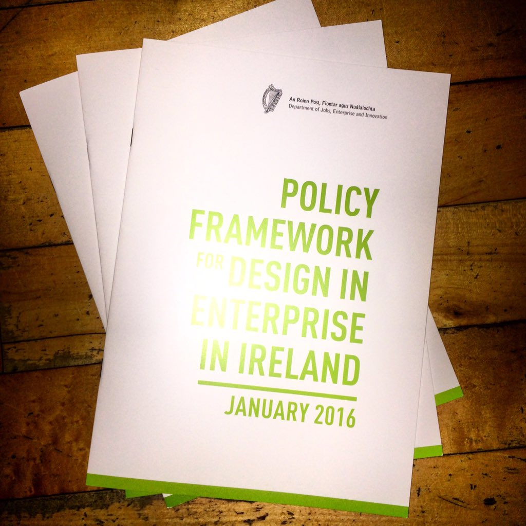 Proud to have contributed #research to this policy document. #design #entrpreneurship @irishdesign2015 @DCCoI https://t.co/fC4SAf69fR