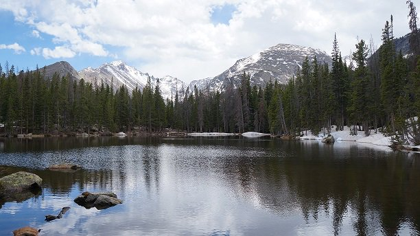 Happy Birthday @RockyNPS established Jan. 26, 1915. Photo of Nymph Lake by NPS #nationalparks #TT https://t.co/IeywTxWwBa