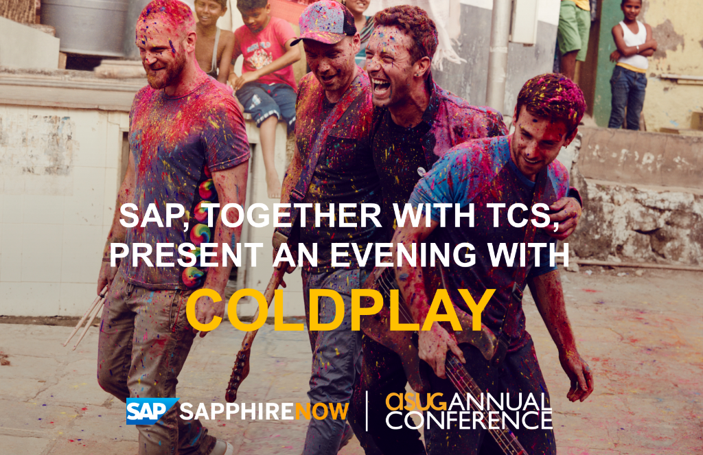 This just in! @Coldplay to perform at #SAPPHIRENOW & #ASUG2016, presented by SAP & @TCS_SAP! https://t.co/sDJ7qBTcsq https://t.co/uOgIhpMase