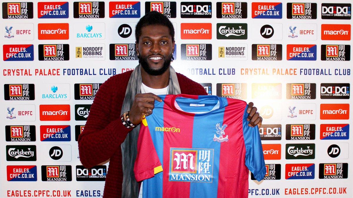 BREAKING: #CPFC are delighted to announce the signing of striker Emmanuel Adebayor. https://t.co/sImRJ7jlSS https://t.co/aPEoM6bPPe