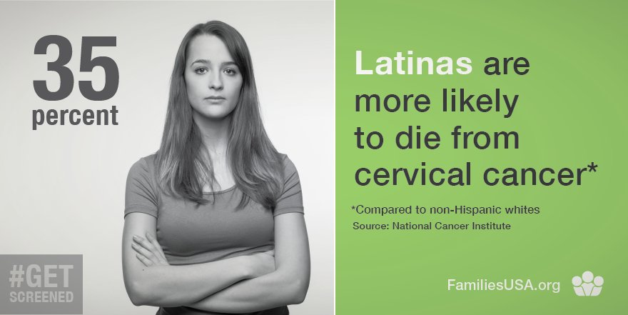 #CervicalCancer disproportionately affects Latinas at higher rates. Early detections is key. #Asegurate https://t.co/ZgmWn1zWob