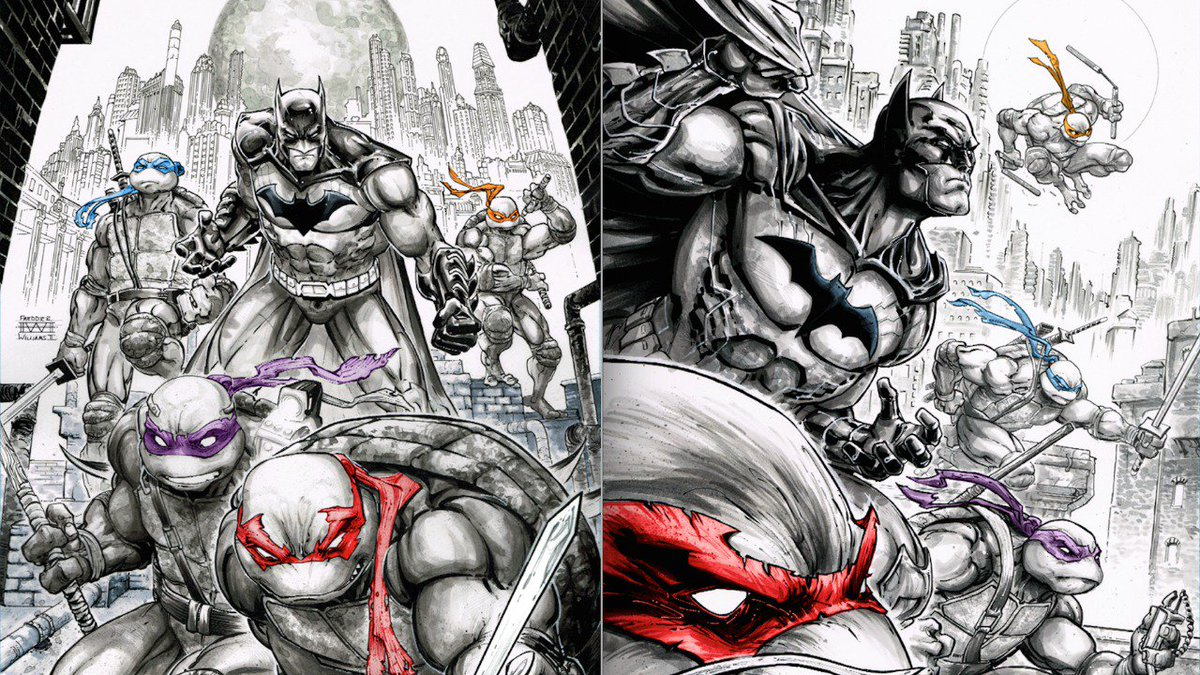 BATMAN/TMNT #1 & 2 by @JamesTheFourth & @Freddieart Second Printing Covers Revealed https://t.co/8N7oBHnBbm https://t.co/OCyxUfiHPw
