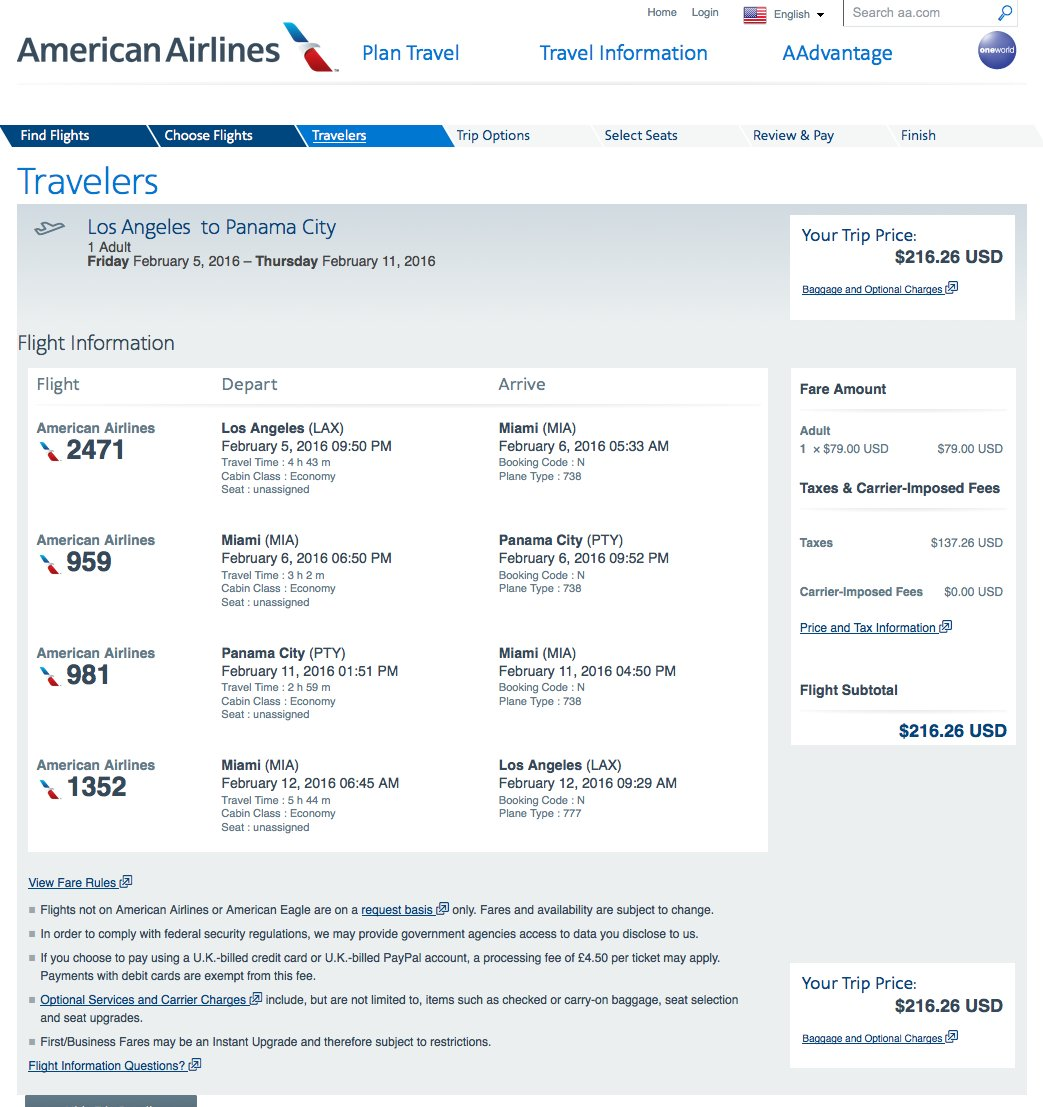 RT @airfarewatchdog: Los Angeles LAX to Panama City PTY $217 round-trip on @AmericanAir