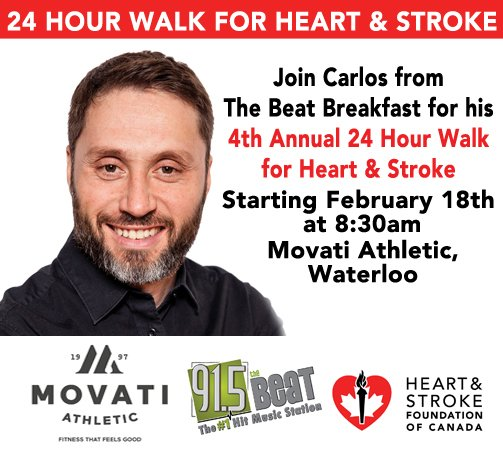 My 4th annual #24HourWalk4Heart is a comin! Walk w/ & please donate! @TheHSF @MovatiAthletic https://t.co/IgV09GIwtN https://t.co/99ndgTHBQZ