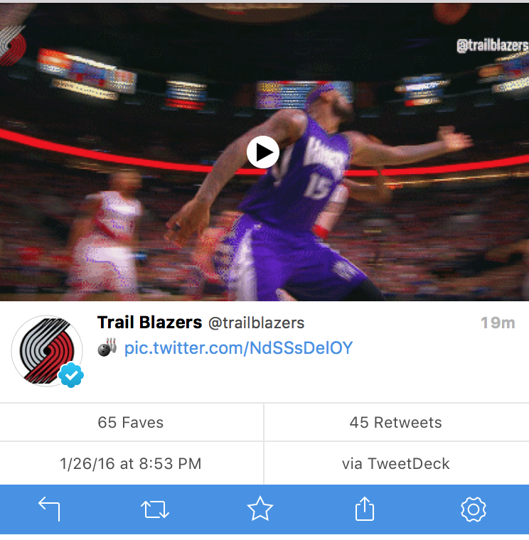 Never seen a pro team, in ANY league, openly make fun of an injured player. Kudo's @trailblazers, you're the worst. https://t.co/XEJPmFIHg3