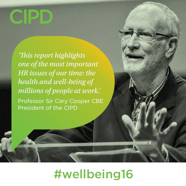 Must-read, new @cipd #wellbeing16 report launches today: Intro by @ProfCaryCooper https://t.co/V0B5my20kl https://t.co/EE0TqlWB61
