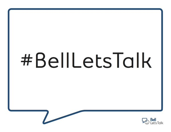 Today is #BellLetsTalk day. RT this & @Bell_LetsTalk will donate 5¢ more to mental health initiatives. https://t.co/MroNLM1eej