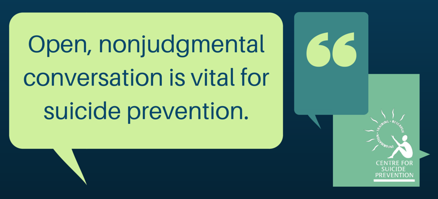 Today is #BellLetsTalk day! We'll be tweeting all day about the importance of conversation around suicide. https://t.co/mpzQOzwGGP