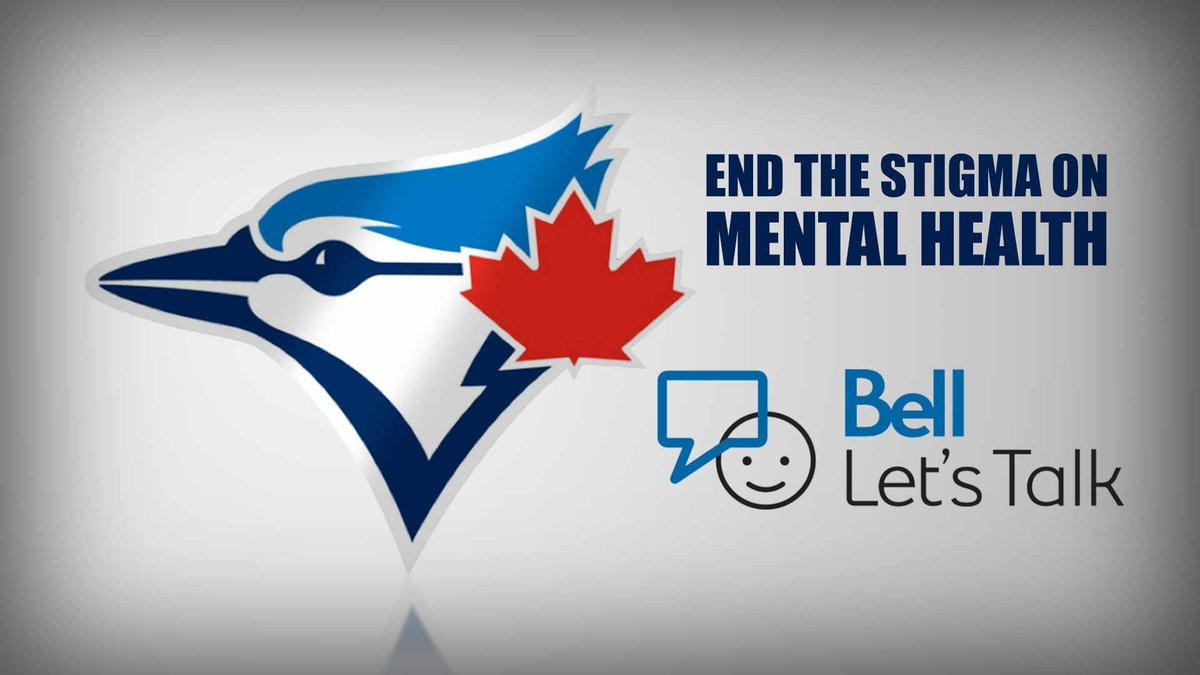 Let's end the stigma on mental health! #BellLetsTalk #BlueJays https://t.co/WUr2Rl4ADy