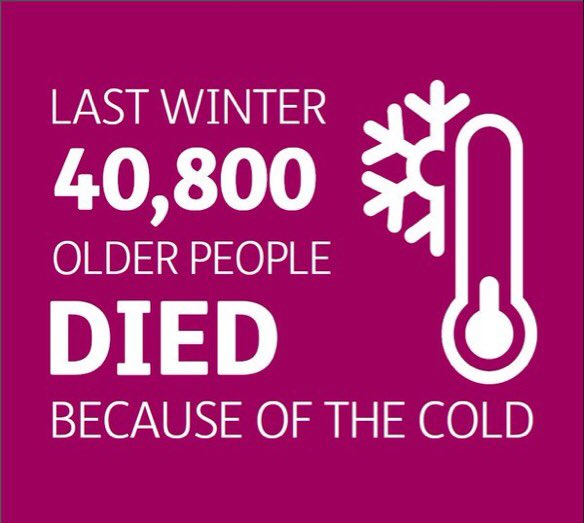 We're highlighting the shocking no. of extra winter deaths last year during Cold Homes Week (1-5 Feb) #coldisakiller https://t.co/a7owW9yoE7