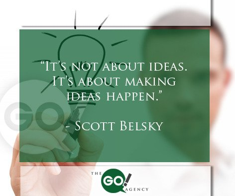 """It's not about ideas. It's about making ideas happen."" Scott Belsky #socialmediamarketing #smallbusiness https://t.co/37jbMy8fzB"