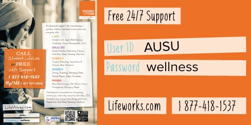 #BellLetsTalk day reminds us to reach out in a time of need. Support is free for AU students. https://t.co/N7qESbUYpu