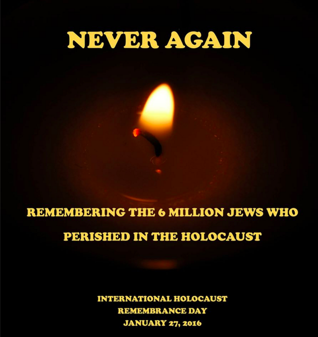 Never again #HolocaustRemembrance https://t.co/TAGVkJM4Gw