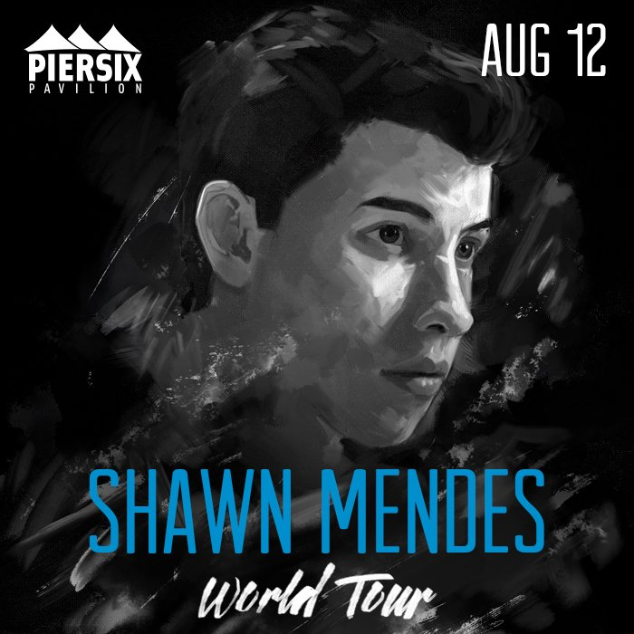 **JUST ANNOUNCED** @ShawnMendes 8/12 at #piersix - tix on sale 2/6 10 AM https://t.co/jJMDFTWuPr https://t.co/8SNb3DtBwx