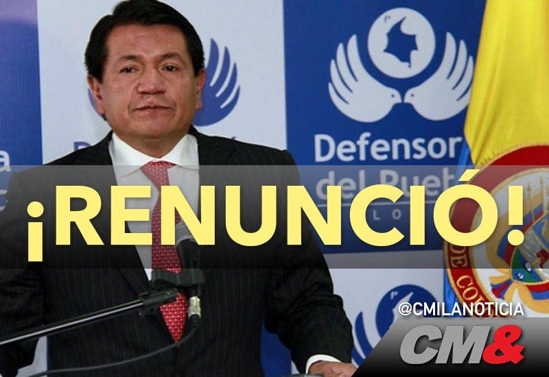 #ÚltimoMinuto l presenta su renuncia el Defensor del Pueblo, Jorge Armando Otálora. https://t.co/NeHwrHjLaW