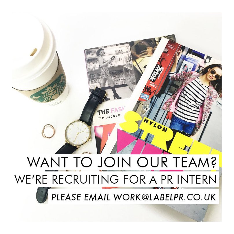 Want to join our team as a #PRintern? Email your CV and cover letter to work@labelpr.co.uk #Manchester #intern https://t.co/t16I6v9pH9