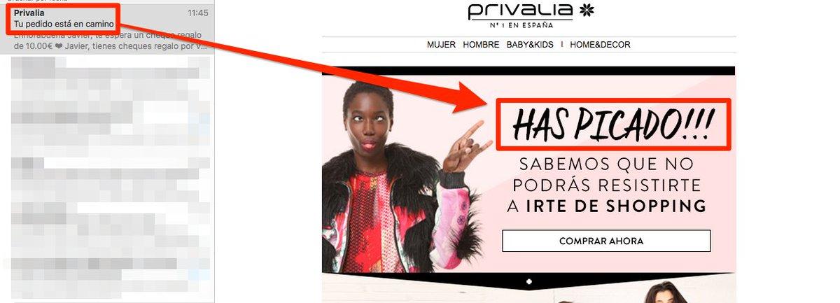 Hola @Privalia_es a que viene este email? Juego sucio para que abramos los emails? #MuyMal https://t.co/GF18ZOzwVY