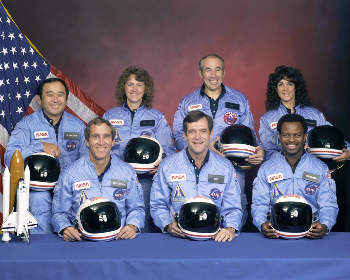 30 yrs ago today these 7 died in the Challenger accident. Spaceflight is forever safer, more capable. I honour them. https://t.co/cIbKr4naBS