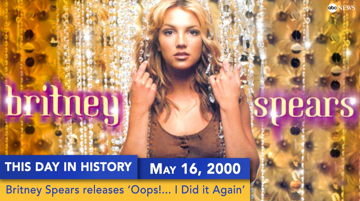 On this day 17 years ago, @britneyspears released her studio album 'Oops... I Did it Again' https://t.co/cR1wAPI5hR