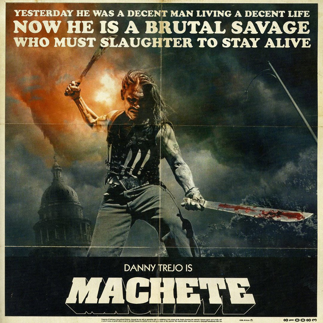 Happy Birthday to Danny Trejo! Machete don\t text, but he does message: follow him at