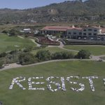 200 protesters spell out 'Resist!' at Trump golf course near LA, seek to see his tax returns