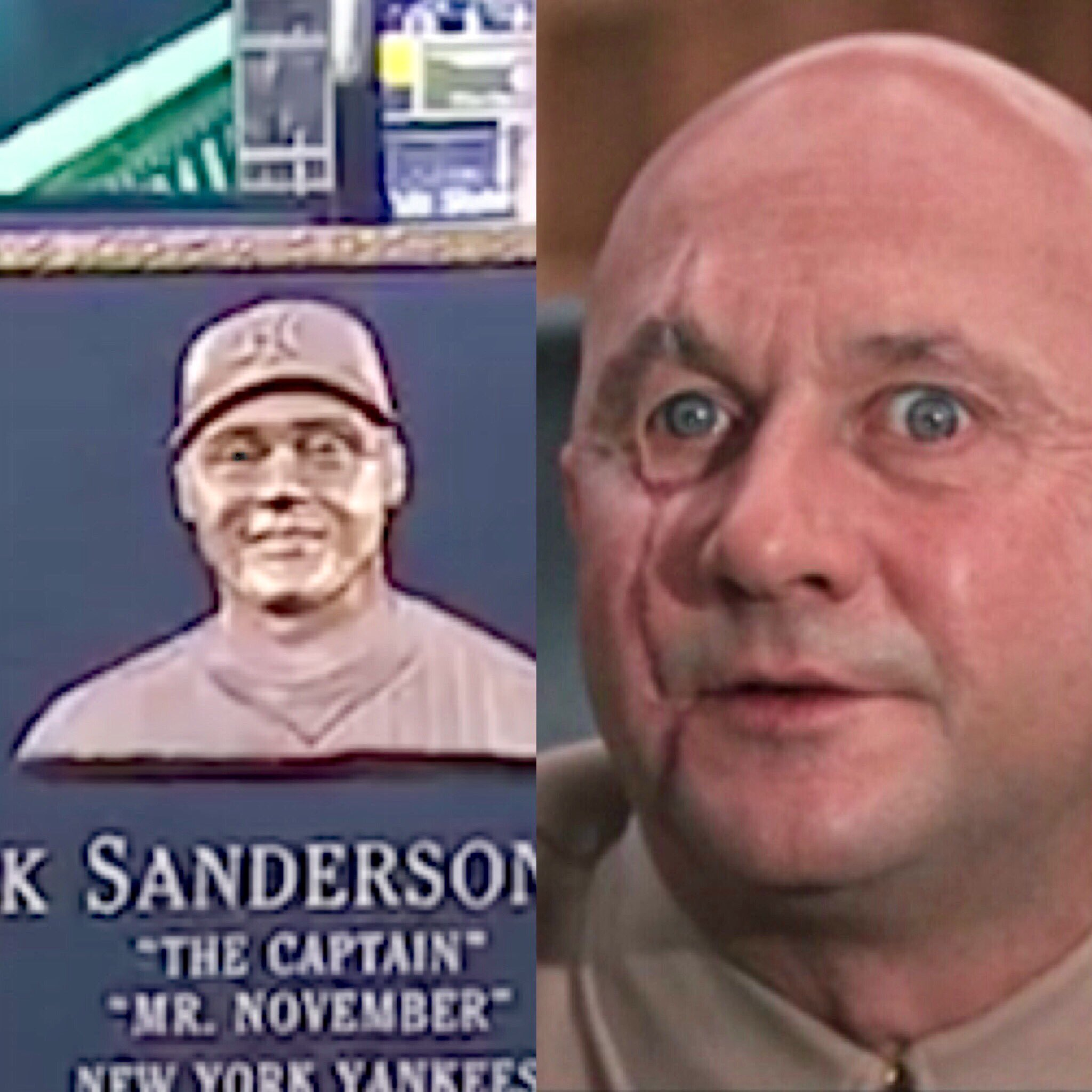 Assuming there's a reason the Yankees put Donald Pleasence as Blofeld from James Bond on Derek Jeter's plaque. https://t.co/pwooobAqxI