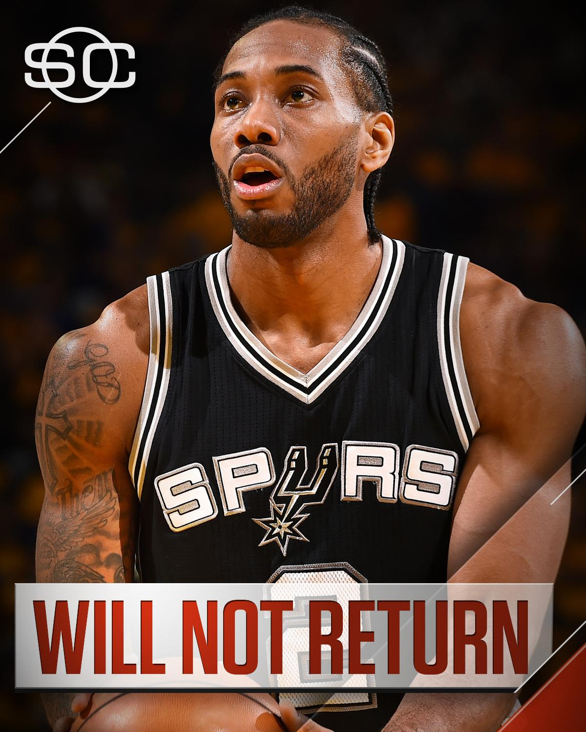 Kawhi Leonard will not return to today's game after spraining his left ankle in the 3rd quarter. https://t.co/f4DlRnrnOQ