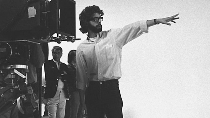 Happy 73rd birthday, George Lucas (Pictured: behind the scenes of THX 1138)